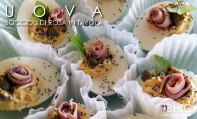 Finger Food – Uova con Boccioli Di Rosa