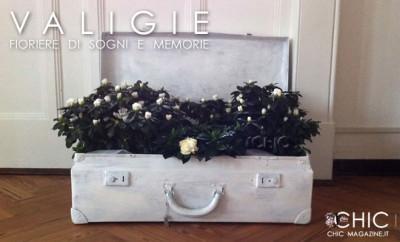 Vecchie valigie: fioriere di sogni e memorie